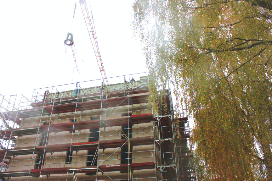Bau von 56 Wohnungen in Rekordzeit