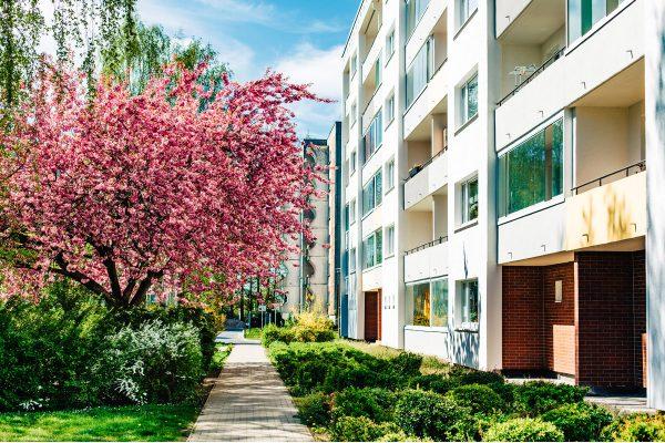 Wohnungen der Wohnungsbau-Genossenschaft Greifswald in der Spiegelsdorfer Wende