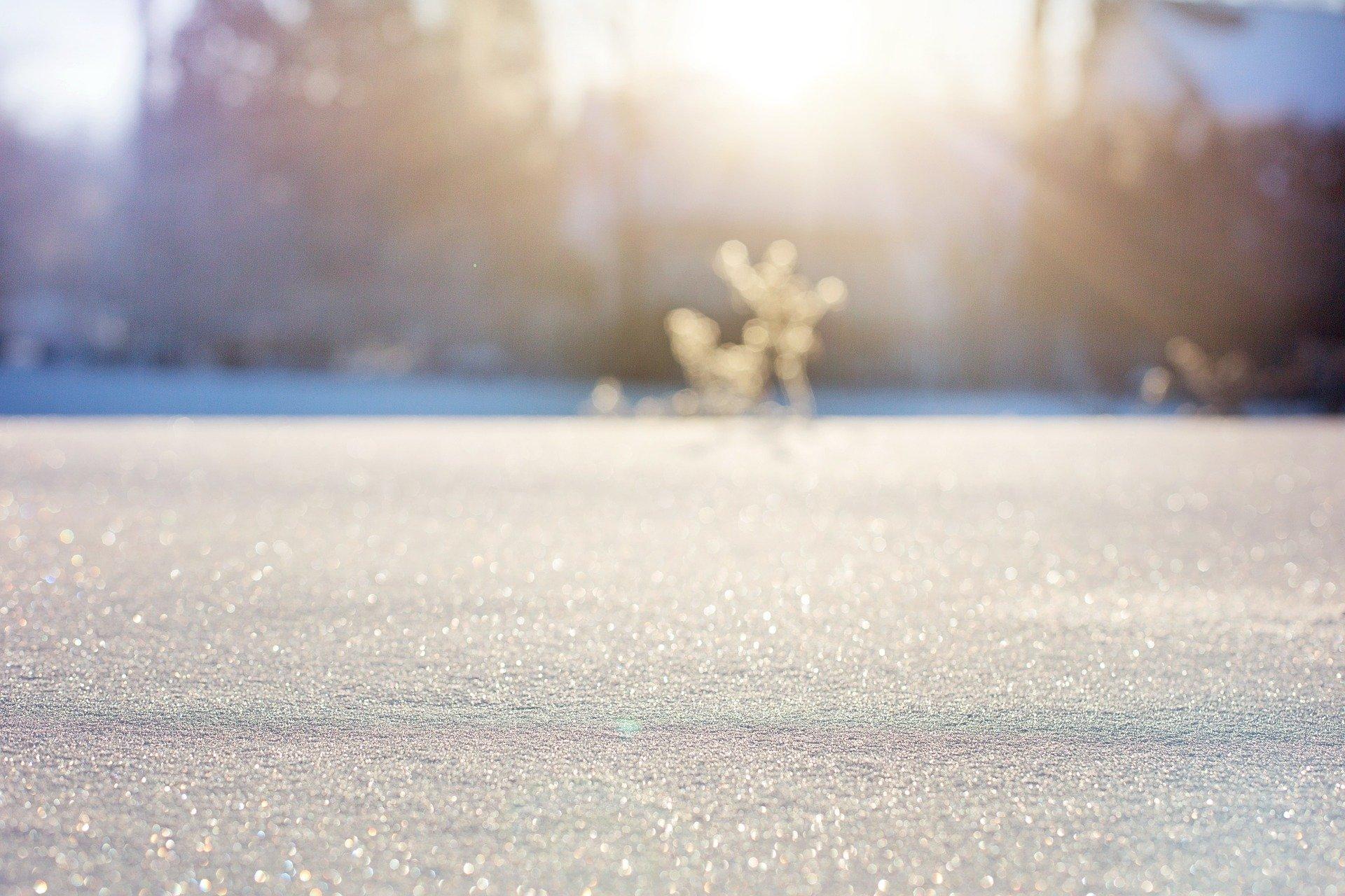 Schnee und Eis im Winter